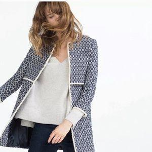 "Zara Blogger ""THE coat"" Jaquard jacket coat  S"